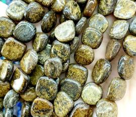 Natuursteen nugget kralen Bronzite 10 stuks 8-12 mm