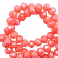 Facetkraal rood coral tigerlily 3x2 mm 290 stuks