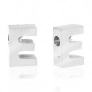 Initiaal letterkraal RVS E zilver