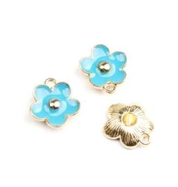 Bedel bloem blauw goud