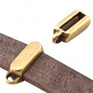 Kraal met oogje brons Ø 10,5x2,5 mm DQ
