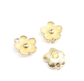 Bedel bloem beige goud