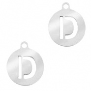 Bedel initial D zilver RVS