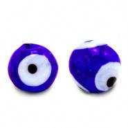 Evil eye kralen blauw cobalt 6 mm glas