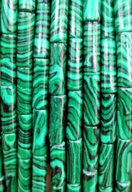 Natuursteen kralen tubes groen mixed