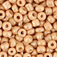 Rocailles bruin cream licht 4 mm 20 gram
