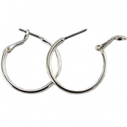 Oorring hanger creool zilver 25 mm DQ silver plated
