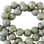 Kraal groen / grijs half edelsteen