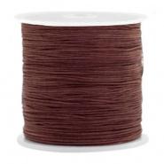 Macramé draad bruin tawny 0,5 mm