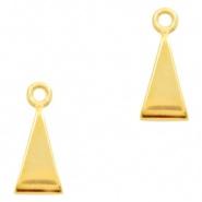 Schuifkraal driehoek met oogje goudkleurig DQ
