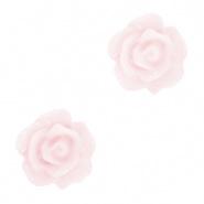 Bloem kraal roze hushed violet roosje 10 mm
