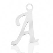 Bedel initial letter A RVS zilver