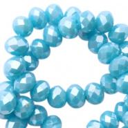 Facetkraal blauw 4x3 mm 150 stuks