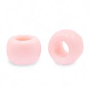 Acryl kralen rondellen 9 mm roze licht