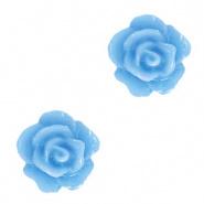 Bloem kraal lavendel blauw roosje 10 mm