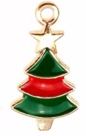 Bedel kerstboom goud groen rood