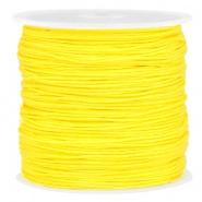 Macramé draad geel bright 0,8 mm