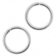 Open ring zilver 8 mm 200 stuks RVS