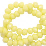 Facetkraal geel sunshine 8x6 mm 72 stuks
