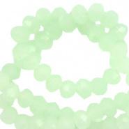 Facetkraal groen crystal ash 4x3 mm 130 stuks