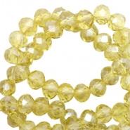 Facetkraal geel licht opaal 8x6 mm 72 stuks