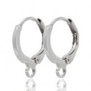 Klap oorhangers zilver 11,5 mm DQ
