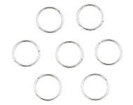 Open ring zilver 10 mm 50 stuks donker