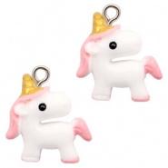 Bedel unicorn eenhoorn roze licht