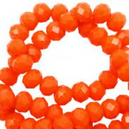 Facetkraal oranje saffron 3x2 mm 290 stuks