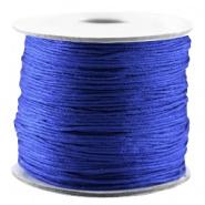 Macramé draad blauw cobalt 0,7 mm satijn