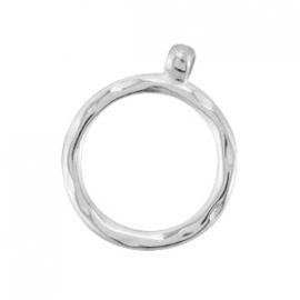 Bedel / hanger ring met oog 28 mm zilver DQ