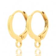 Klap oorhangers goudkleurig 11,5 mm DQ