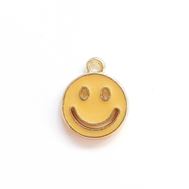 Bedel smiley geel oker goud