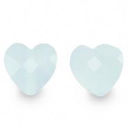 Facetkraal blauw icy hart