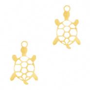 Bedel schildpad goud RVS