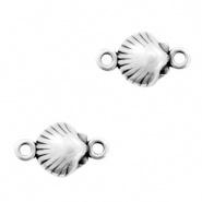 Bedel / connector / tussenstuk schelp zilver DQ