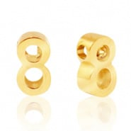 Cijferkraal 8 goudkleurig RVS