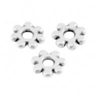 Metalen kraal zilver 5,6 mm spacer / rondel slider 25 stuks DQ