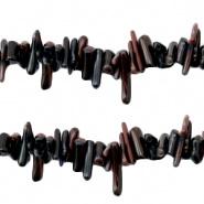 Ocean Bamboo kralen black 4-18 mm