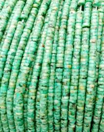 Natuursteen kraal blauw African Turquoise 4 mm
