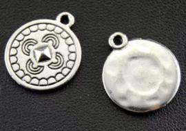 Bedel munt bohemian zilver