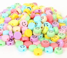 Acryl kraal smiley color mix
