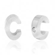 Initiaal letterkraal RVS C zilver