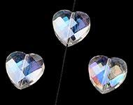 Facetkraal kristal AB hart