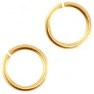 Open ring goudkleurig 4,5 mm 50 stuks DQ