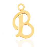 Bedel initial letter B RVS goud