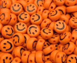 Letterkraal smiley oranje 7 mm
