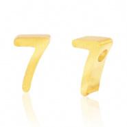 Cijferkraal 7 goudkleurig RVS