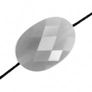 Facetkraal grijs ovaal