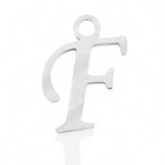 Bedel letter F RVS zilver